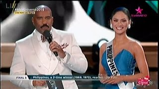 Miss Universe 2015 Q & A Question and Answer Portion [Top 5] | Miss World 2015
