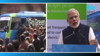 Electric bus an initiative towards finding solution to pollution: PM Modi