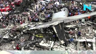 Some photographs of the ill fated BSF plane that crashed in Delhi