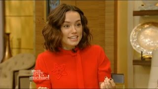 Daisy Ridley talks 'Star Wars: The Force Awakens' on Live! with Kelly and Michael