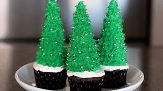 How to Make Christmas Tree Cupcakes | Cooking Tips & Recipes