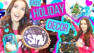 DIY Holiday Room Decor - Easy Christmas Decoration ideas!