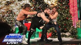 Ambrose vs Ziggler vs Owens - Intercontinental Title Triple Threat: WWE SuperSmackDown, Dec. 22, 2015