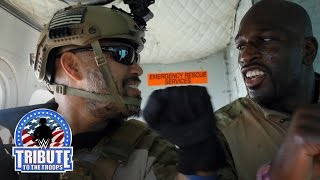 Titus O'Neil and Batista pay tribute to the U.S. Navy SEALs