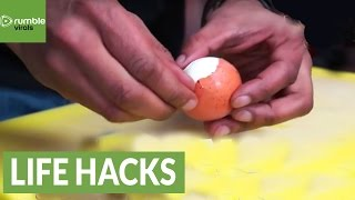 Fastest possible way to peel an Egg!
