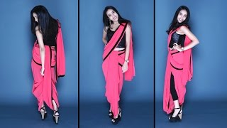 How To Wear A Saree | Dhoti Style