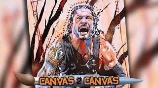 The Powerhouse spears the canvas: WWE Canvas 2 Canvas