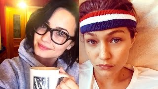 Kendall Jenner, Gigi Hadid, & The Top Makeup-Free Celebrity Selfies