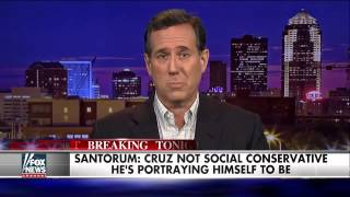 Rick Santorum slams Ted Cruz on social issues