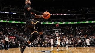NBA: LeBron Throws Down the Reverse Jam