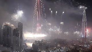 Dubai New Year Fireworks in Full | Happy New Year