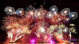 New Year Fireworks 2016 Times Square USA New York london Sydney Dubai Rio Janeiro Tokio Japan