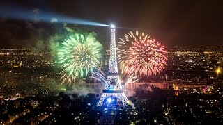 Paris New Year 2016 Fireworks Amazing Fireworks at the Eiffel Tower