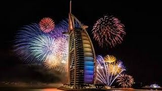 AMAZING Dubai New Year's Fireworks 2016 Burj Al-Arab Downtown | NEW YEAR 2016 FIREWORKS