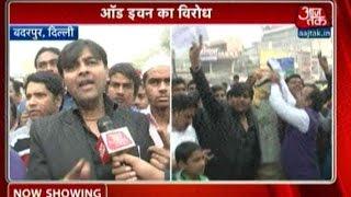 Protest Against Odd-Even Formula In South Delhi