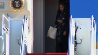 First Family Arrives Home from Holidays