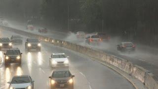 Heavy Rainfall Floods, Closes Calif. Roads