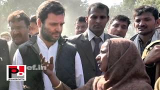 Rahul Gandhi visits Shakur Basti to meet victims