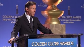The 73rd Annual Golden Globe Awards Nominations Announced by Dennis Quaid And Chloe Grace Moretz