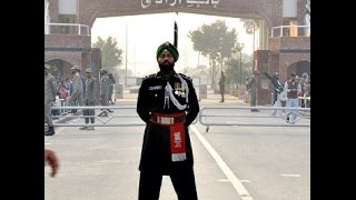 First Sikh Pak Ranger at Beating Retreat ceremony