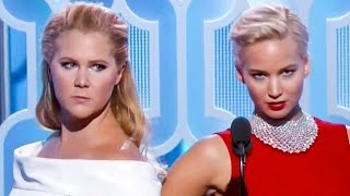BFFs Jennifer Lawrence & Amy Schumer HILARIOUS at Golden Globes 2016