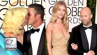 Golden Globe Awards 2016'- HOTTEST Celebrity Couples | Lady Gaga & Taylor Kinney