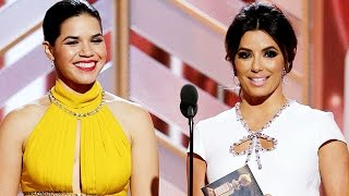 Ricky Gervais MOCKS Donald Trump Deporting Eva Longoria & America Ferrera at 2016 Golden Globes