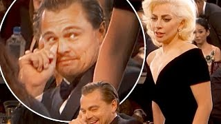 Lady Gaga Spooks Leonardo DiCaprio At The Golden Globes 2015