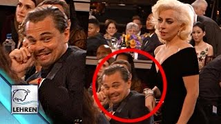 Lady Gaga BARGES Past Leonardo DiCaprio @ Golden Globe Awards 2016