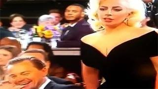 2016 Golden Globes- Lady Gaga Smacks Leonardo DiCaprio After Golden Globe Win