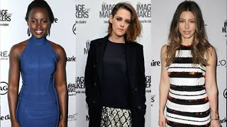 (VIDEO) Kristen Stewart, Lupita Nyong'o And More Celebs At Marie Claire Awards Red Carpet