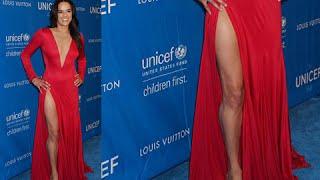 OOPS!! Michelle Rodriguez Suffers Major WARDROBE MALFUNCTION