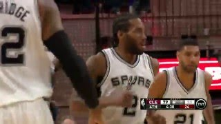NBA: Kawhi Leonard Rises Up for the Put-Back Slam