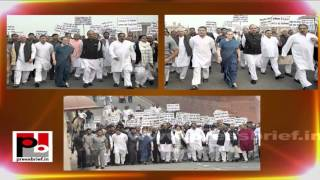 Sonia Gandhi, Rahul Gandhi led a protest march to Rashtrapati Bhawan