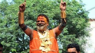 Golden baba in Ardh Kumbh wore 15Kg gold worth 3 crores