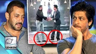 Salman-Shahrukh Wore SHOES In Temple | CONTROVERSY