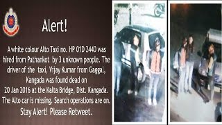 Delhi Police issues alert after driver of Pathankot taxi found dead, taxi missing