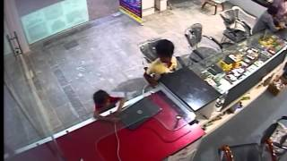 5 Year Girl Stolen Laptop (CCTV Footage)