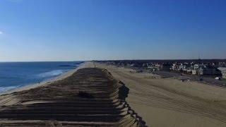 Drone Footage of N.J. Beach Storm Preps