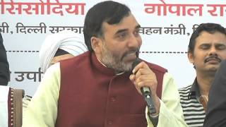 Delhi Transport Minister Gopal Rai Thanks Delhi For Sucess of Odd and Even Scheme