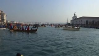 Boats Crowd Venice Canals for Carnival