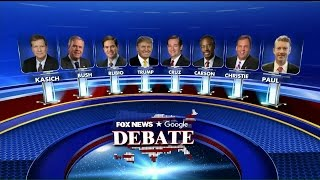 Baier announces the lineup for the Republican debate.