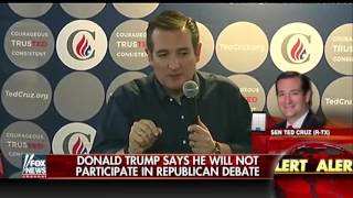 Cruz comments on Trump's decision not to attend the debate