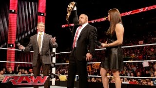 The McMahon family celebrates Triple H's Royal Rumble Match victory: WWE Raw, January 25, 2016