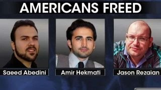 What happened to the prisoners freed from Iran?