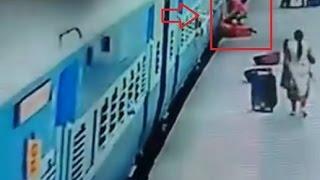 CCTV footage: Woman dies while deboarding train in Mumbai
