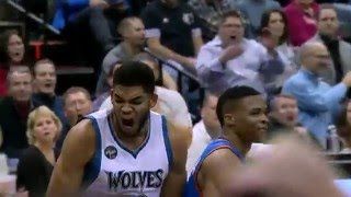 NBA: Karl-Anthony Towns Powers Home the Slam