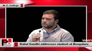 Rahul Gandhi invokes to attack Modi govt in Bangalore
