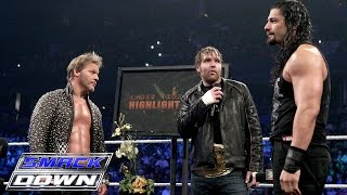 """The Highlight Reel"" welcomes special guests Roman Reigns and Dean Ambrose: WWE SmackDown, Jan. 28, 2016"