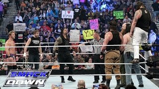 Roman Reigns, Dean Ambrose & Chris Jericho vs. Bray Wyatt, Harper & Rowan: WWE SmackDown, Jan. 28, 2016